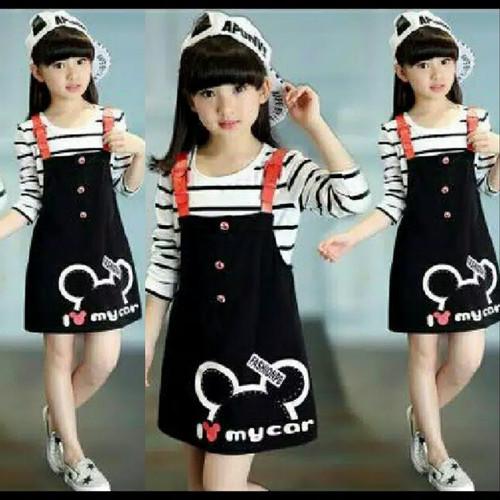 Foto Produk Baju Anak Perempuan Setelan Anak Overall Oie Kids Usia 5-6-7-8 Tahun - 5-6 tahun dari Piyaku