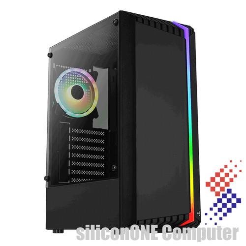 Foto Produk AEROCOOL BIONIC 1FAN + FRONT STRIP RGB ATX TEMPERED dari silicon ONE Computer