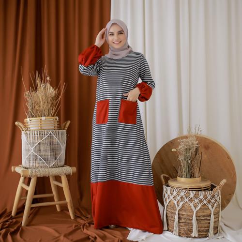 Foto Produk Mybamus Ghea Hand Rubber Dress Maroon M14809 R45S3 dari Mybamus Official