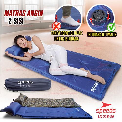 Foto Produk Matras Angin Kasur Tidur Tiup Sleeping Pad Outdoor Waterproof 018-36 - ARMY dari Speeds Official Store