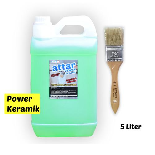 Foto Produk Formula BARU ATTAR Power Pembersih Kerak KERAMIK / WC / Toilet 5 Liter dari Tasneem TangSel