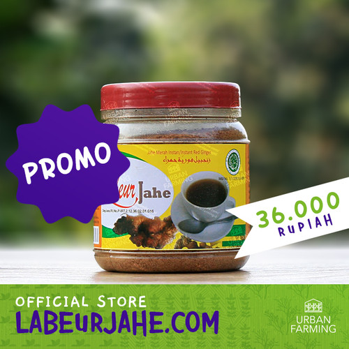 Foto Produk Labeur Jahe / Jahe Merah Instan Instant/Bubuk/Toples/Wedang/Serbuk dari UrbanFarming