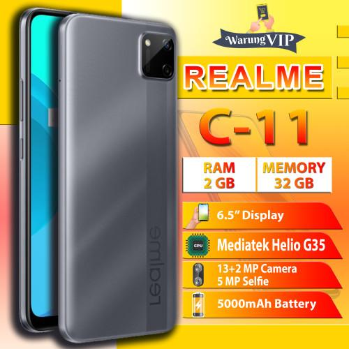 Foto Produk REALME C11 2/32 RAM 2GB ROM 32GB Garansi Resmi Realme Indonesia - Abu-abu dari Warung VIP