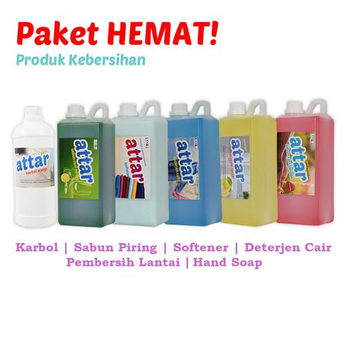 Foto Produk Paket HEMAT Attar: Sabun Cuci Piring, Deterjen Cair, Karbol, Softener, dari Tasneem