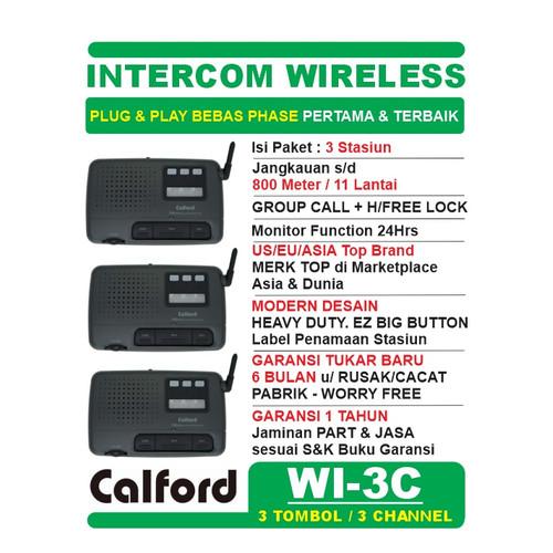 Foto Produk PAKET 3 STASIUN WI-3C - FM WIRELESS INTERCOM LONG RANGE CALFORD WI-3C dari EtalaseBelanja