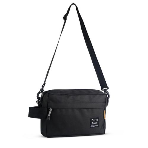 Foto Produk ANT PROJECT - Tas Selempang Pouch ANT302 Tas Handbag Distro / Vape Bag - Hitam dari Ant Project Official