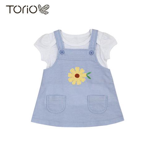 Foto Produk Torio Classic Garden Overall Set - Setelan Jumper Anak Perempuan - 3-6 bulan dari Torio