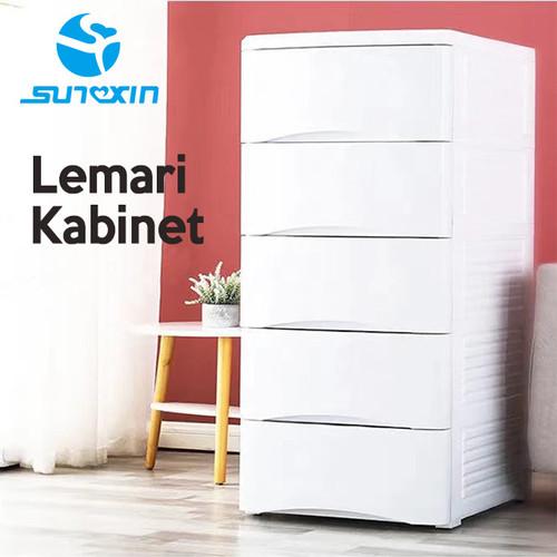 Foto Produk PLASTIC STORAGE CABINET, LEMARI/LACI PLASTIK Putih - 4 Susun dari SUNXIN