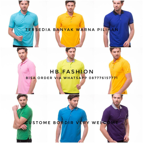 Foto Produk Kaos Polo Shirt Polos / Kaos Kerah / Kaos Polo - All Colours, S dari HB Fashions