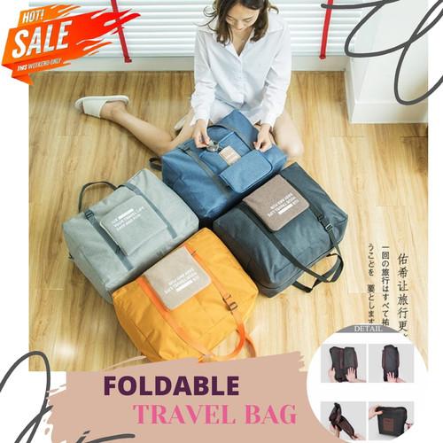 Foto Produk Foldable Travel Bag / Folding Travel Bag / Tas Travel Lipat - Orange dari Rising.collection