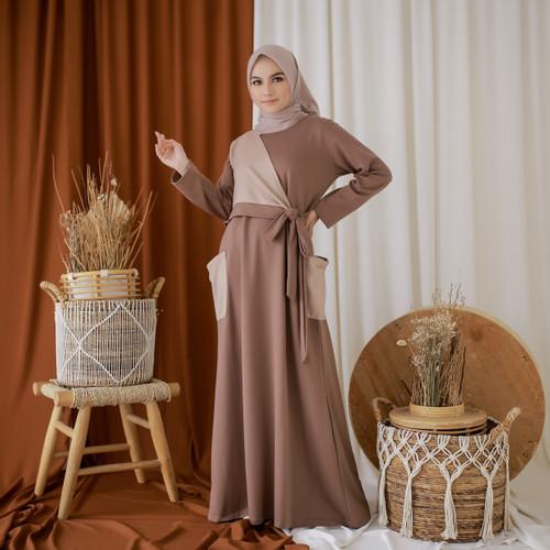Foto Produk Mybamus Yava Pocket Dress Mocca-Khaki M14807 R4S3 dari Mybamus Official