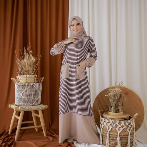 Foto Produk Mybamus Ghea Hand Rubber Dress Khaki M14810 R45S4 dari Mybamus Official