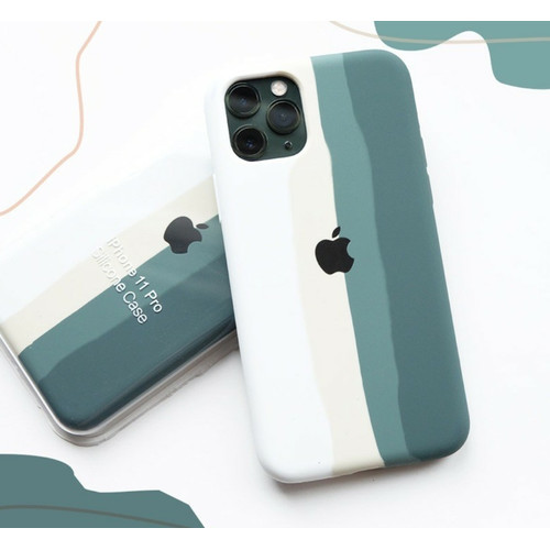 Foto Produk Silicone Stripe Case Iphone 6 6s 7 8 SE 2020 Plus X XS XR 11 PRO MAX - MID.GREEN STRIP, 6 6S dari Caseayangan ID