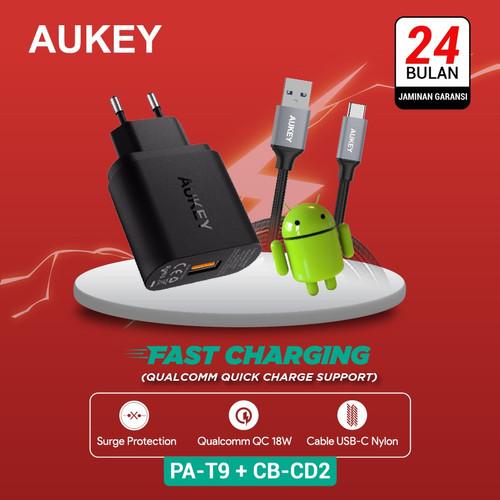 Foto Produk Aukey Charger PA-T9 500001 + Aukey Cable CB-CD2 500093 dari Aukey Makassar