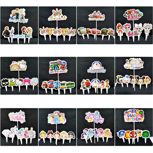 Foto Produk Cake Topper Tusukan Hiasan Kue Happy Birthday Unicorn Cars Tayo Frozen - Unicorn Bunga dari CHOWPING_STORE