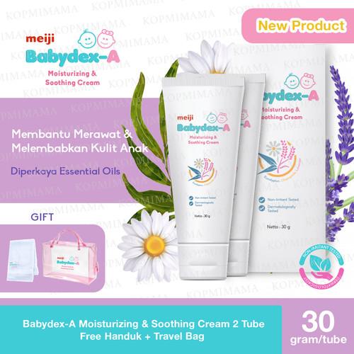 Foto Produk Babydex-A Moisturizing & Soothing Cream 2 Tube + Handuk + Travel Bag dari Kopmimama Baby