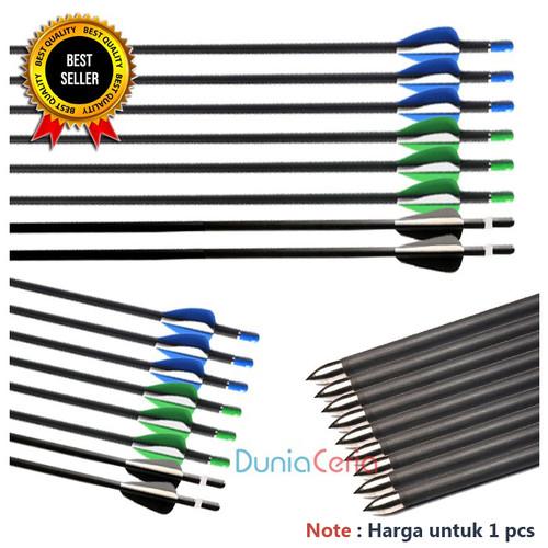 Foto Produk Anak Panah Arrow Musen 7mm Spine 700 Carbon Fiber MSTJ-70HS - Green Black dari Dunia Ceria