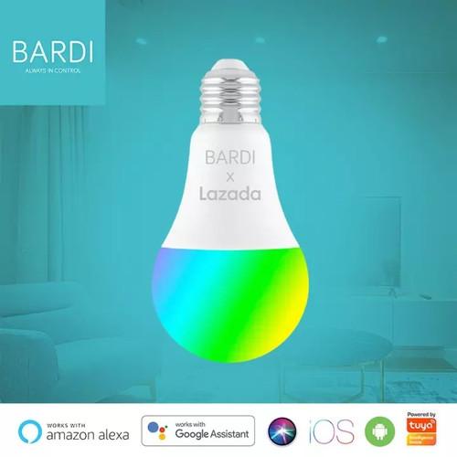 Foto Produk BARDI 7W RGB+W Smart Lampu Light Wifi Wireless IoT Home Automation ORI dari Bardi Jakarta Official