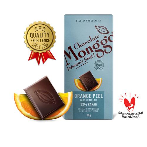 Foto Produk Orange Peel & Dark Chocolate 80g| Cokelat Monggo | Coklat Snack - Orange Peel dari Chocolate Monggo Jakarta