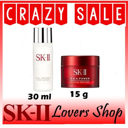 Foto Produk SK-II/SK2/SKII/SK II CLEAR LOTION + RNA POWER CREAM 15 G dari SK-II LOVERS SHOP