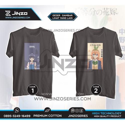 Foto Produk T Shirt Anime Go Toubun no Hanayome - M, CODE 1 dari Jinzo Series