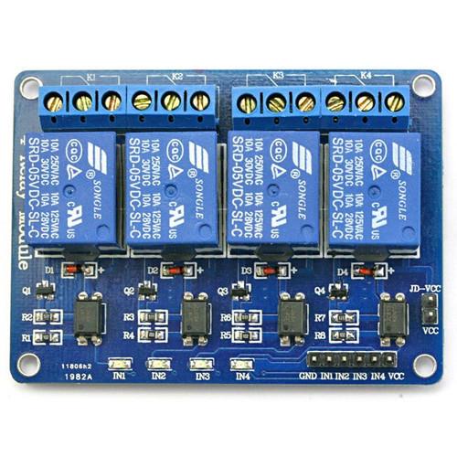 Foto Produk Relay Module 5V 4 Channel 4ch 4 ch Untuk Arduino Modul Relay 5V dari toko_murah.com