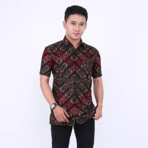 Foto Produk Baju hem batik atasan pria lengan pendek motif songket dari TABASAMA