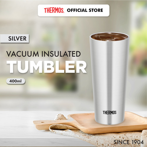 Foto Produk THERMOS Vacuum Insulated Tumbler - Silver 400 ml (JDI-400 S) dari Thermos Indonesia