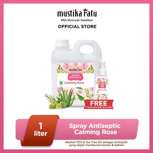 Foto Produk [Mustika Ratu] Hand and Body Spray Antiseptic Calming Rose 1L + 100ml dari Mustika Ratu
