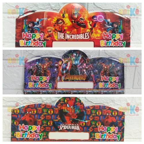 Foto Produk TOPI Kertas Lingkar Mahkota perlengkapan pesta ulang tahun ultah anak dari Goodie Bag Unike