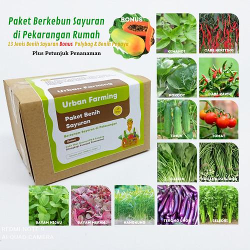 Foto Produk Paket 13 jenis benih eceran (cabe, tomat, pepaya, pokcoy, sawi DLL) dari IPB Mart