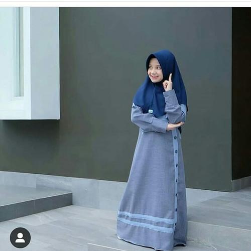 Foto Produk gamis anak wanita baju muslim wanita dari Grosir Pakaian Anak & Dewasa