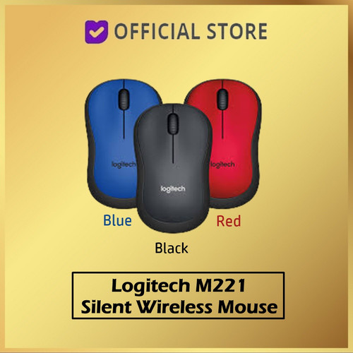 Foto Produk Logitech m221 Silent Wireless Mouse / Mouse Wireless M221 silent m 221 - Biru dari DUNIA COMPUTER & SERVICE