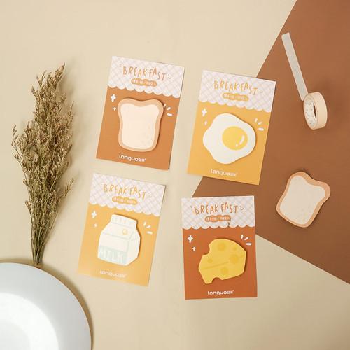 Foto Produk Hello Breakfast Sticky Notes - Catatan Tempel - Notes Tempel - BREAD dari Pinkabulous