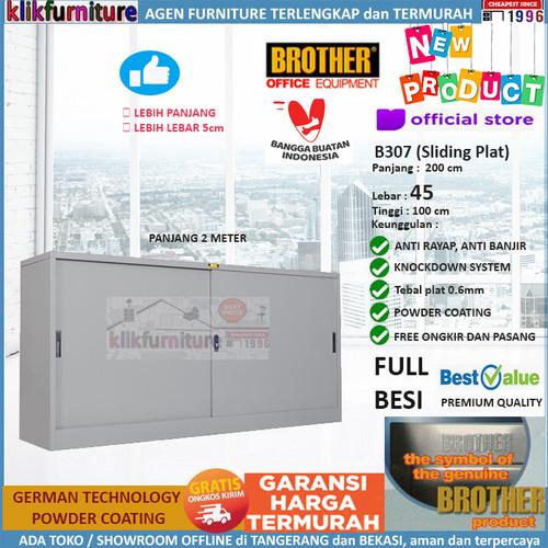 Foto Produk Lemari Arsip Filing Cabinet Besi Panjang 2 Meter B 307 Brother dari klikfurniture