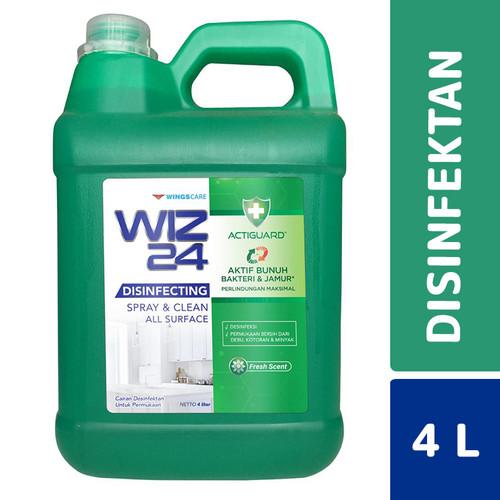 Foto Produk Wiz24 Spray & Disinfectant Fresh Scent 4 Liter dari Mesinlaundry