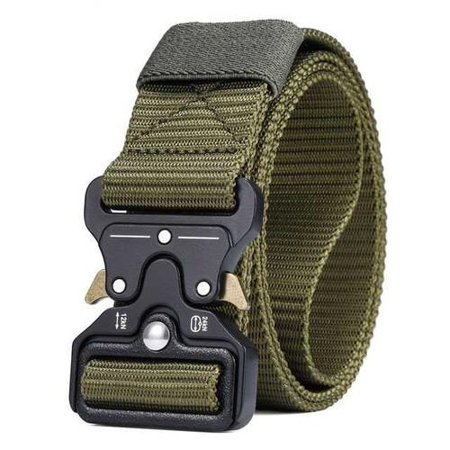 Foto Produk Ikat Pinggang Pria Sabuk Outdoor Canvas Military Tactical Belt - Hijau dari gajtonline