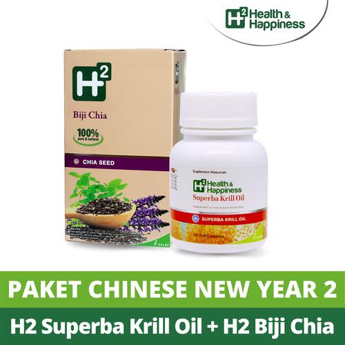 Foto Produk Paket Chinese New Year 2 - H2 Superba Krill Oil & H2 Chia Seed dari H2 Health & Happiness