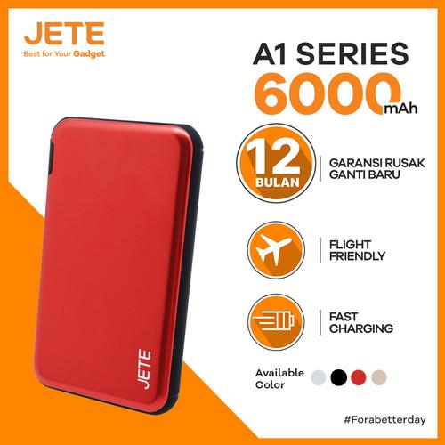 Foto Produk Powerbank JETE A1 6000 mAh Fast Charging Garansi 1 Tahun - Hitam dari JETE Official Surabaya