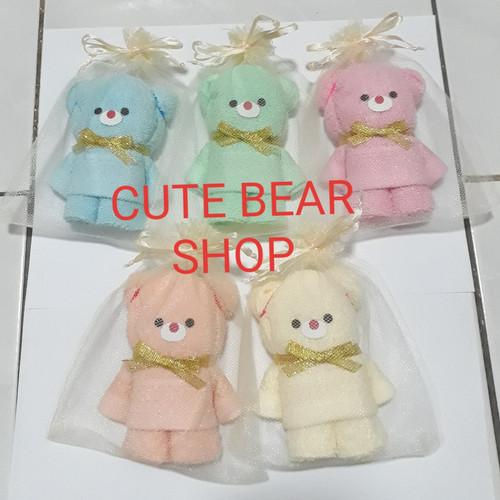Foto Produk Souvenir Handuk Bordir Kelahiran Bayi/Baby Born One Month/Ulang Tahun dari Cute Bear Shop