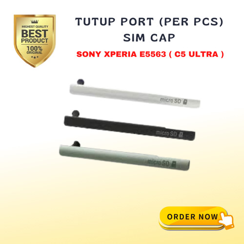 Foto Produk SIM SD Cover / Port SD / tutup SD card E5563 / Sony Xperia C5 - Hijau dari Revrey_Micho