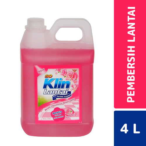 Foto Produk So Klin Lantai Rose Bonquet 4 Liter dari Mesinlaundry
