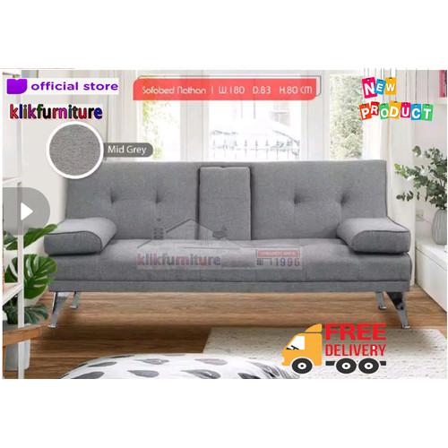 Foto Produk Sofabed Sofa Lipat Minimalis Modern NATHAN dari klikfurniture