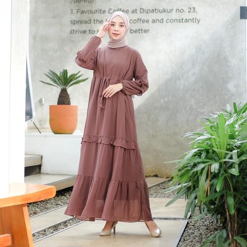 Foto Produk Terminal Grosir | Gamis Wanita Muslim Original | Layra Dress - Choco dari Terminalgrosir Indonesia