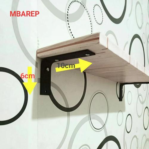 Foto Produk rak siku besi L penyangga rak dinding.6cm*10cm dari mbarep-jaya