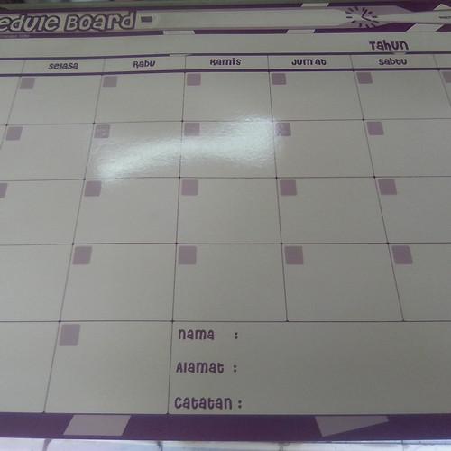 Foto Produk white/schedule board karton dari Klabmata Inc