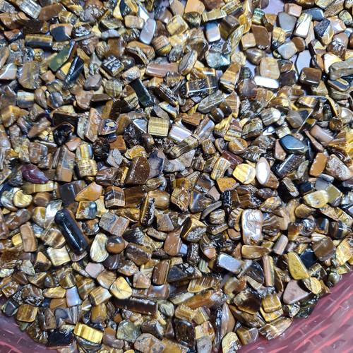 Foto Produk Batu Tiger EYe chips/Tumbled TOP GRADE dari selenite store