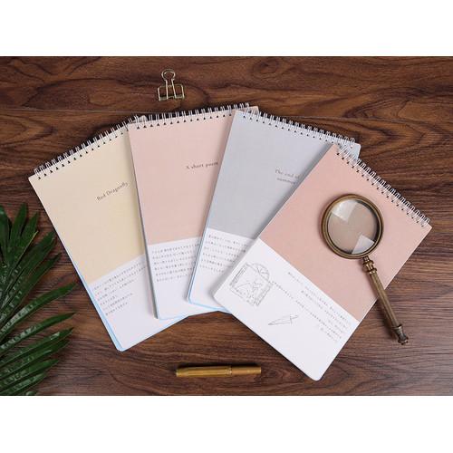 Foto Produk Life Lyrics Spiral Ruled Notepad B5 - Buku Tulis B5 - Buku Bergaris B5 - A SHORT POEM dari Pinkabulous