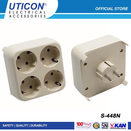 Foto Produk Uticon S-448N Stop Kontak 4 in 1 Original dari UTICON