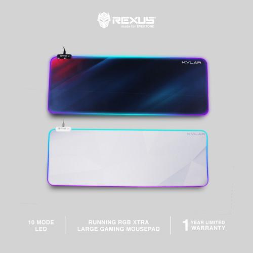 Foto Produk Rexus Mousepad Gaming RGB Kvlar TR2 Speed Edition XL - Putih dari Rexus Official Store